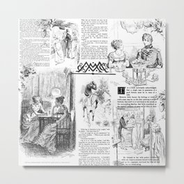 Pride and Prejudice - Pages Metal Print