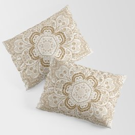 Mandala Temptation in Cream Pillow Sham