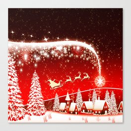 Santa Beautiful Christmas Canvas Print