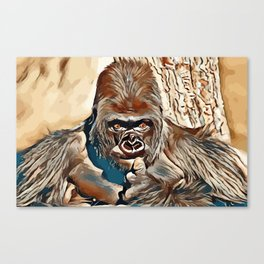 Thinking Gorilla Canvas Print