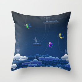 Super Adorable Mystic Little Fairies Responsible For Thunder Throw Pillow