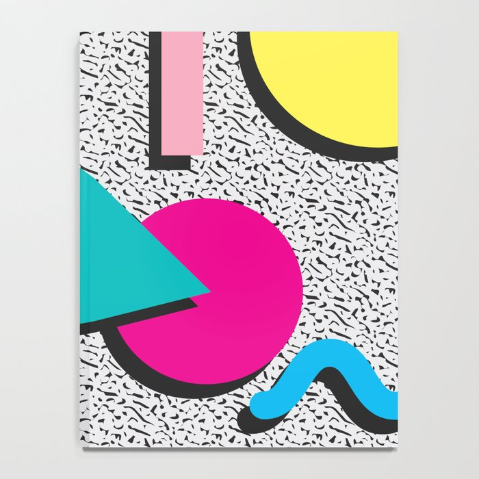 Abstract 1980's Notebook