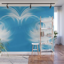 abstract fractals mirrored reacwb Wall Mural