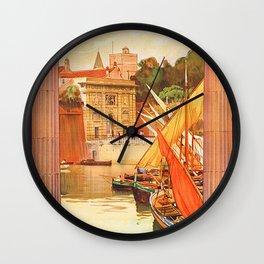 Vintage Zara Italy Travel Poster Wall Clock