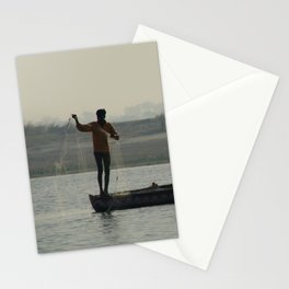Fishermen Casting Nets Stationery Cards