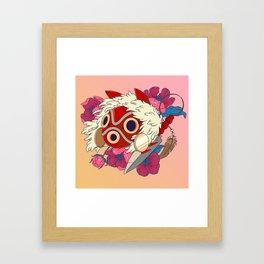 Mononoke Mask Framed Art Print