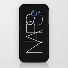 Naps Cosmetic Chic Black Typography Galaxy S6 Slim Case