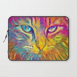 Neon Rainbow Cat Laptop Sleeve