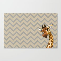 Chevron Giraffe! Canvas Print