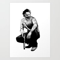 rick grimes Art Prints featuring Rick Grimes by Naomi Bell