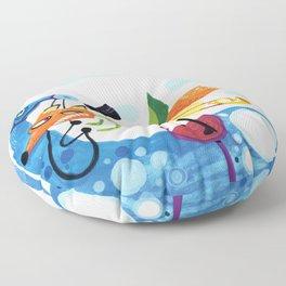Riding Fox Floor Pillow