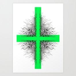Modern Cross Art Print
