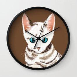 Sialata, the Kitty Cat Wall Clock