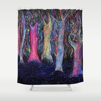 shining Shower Curtains featuring Shining forest by ShaMiLa