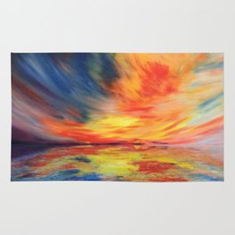 A fire in the sky Rug