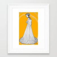 nouveau Framed Art Prints featuring Nouveau by Madame Mim