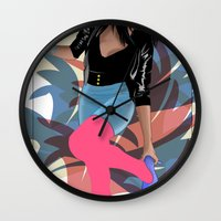 80s Wall Clocks featuring 80s by Allen Holt