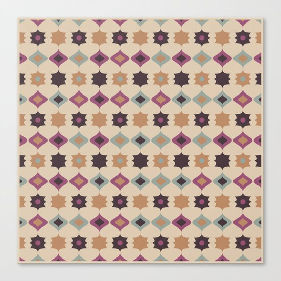 Retro pattern . Pastel . Canvas Print