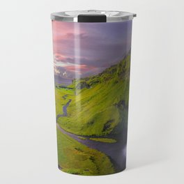 Seljalandsfoss Waterfall, Iceland Travel Mug