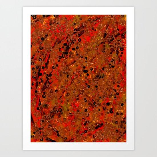 collage 7 -de50 Art Print