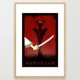 Samurai Jack Print - Sword, Aku Framed Art Print