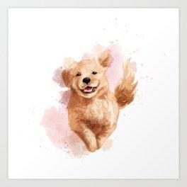 Golden Retriever Puppy Art Print