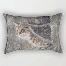 Cat view Rectangular Pillow
