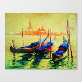 Golden Evening in Venice Canvas Print