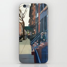 Woman on the Stoop, West 21st Street iPhone Skin