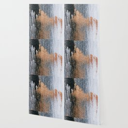 Rose Gold Dream - Abstract Oil Painting Wallpaper