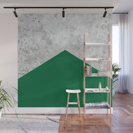 Geometric Concrete Arrow Design - Forest Green #326 Wall Mural