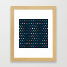 Color Polka Framed Art Print