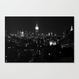 A Night in the City Canvas Print