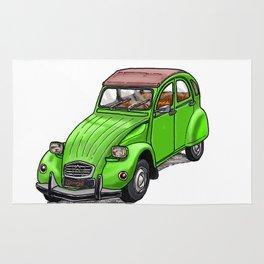 Green 2CV Rug