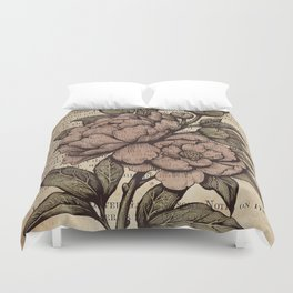 Peonies  - Color Duvet Cover
