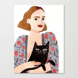 Anne et Margot Canvas Print