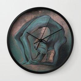 Dancer blue Wall Clock
