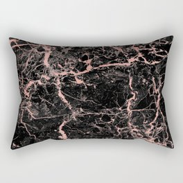 Marble Rose Gold - Someone Rectangular Pillow