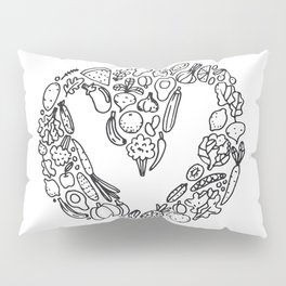 V Vegetables Pillow Sham