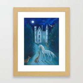 The Moonlit Gathering Framed Art Print