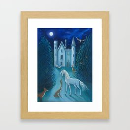 The Moonlit Gathering Framed Art Print