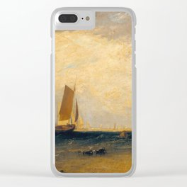 Fishing upon the Blythe-Sand, Tide Setting In Clear iPhone Case