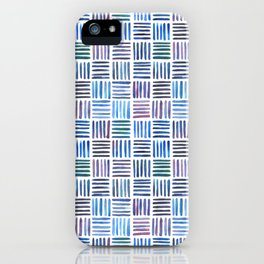 Lines in Blue iPhone Case