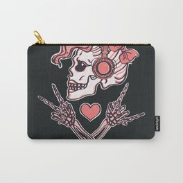 Pink Peace, Love and Music Carry-All Pouch