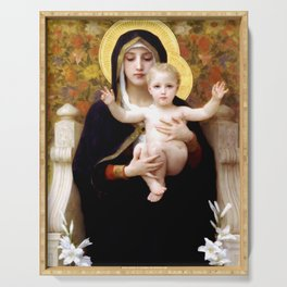 """William-Adolphe Bouguereau """"The Madonna of the Lilies"""" Serving Tray"""