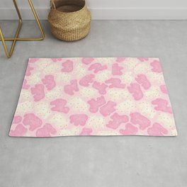 Frosted Animal Cookies on Pink Rug