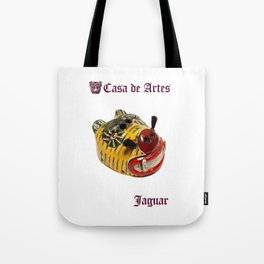 Ceremonial Jaguar Mask Casa de Artes - Antigua Guatemala Tote Bag