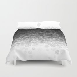 Disappearing Fog - Black and White Gradient Duvet Cover