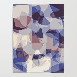 purple and blue modern abstract background Poster