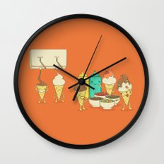 Ice Cream Hair Fun Wall Clock